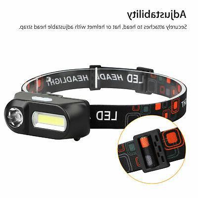 USB Rechargeable Headlight Flashlight