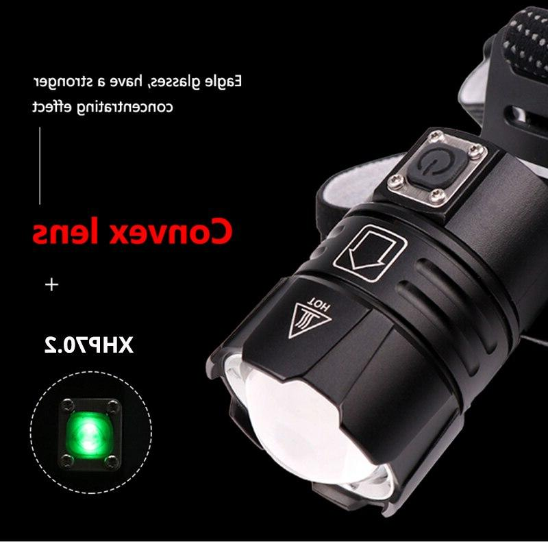 Super <font><b>Rechargeable</b></font> Most Headlight Fishing Camping Torch 3*18650 battery