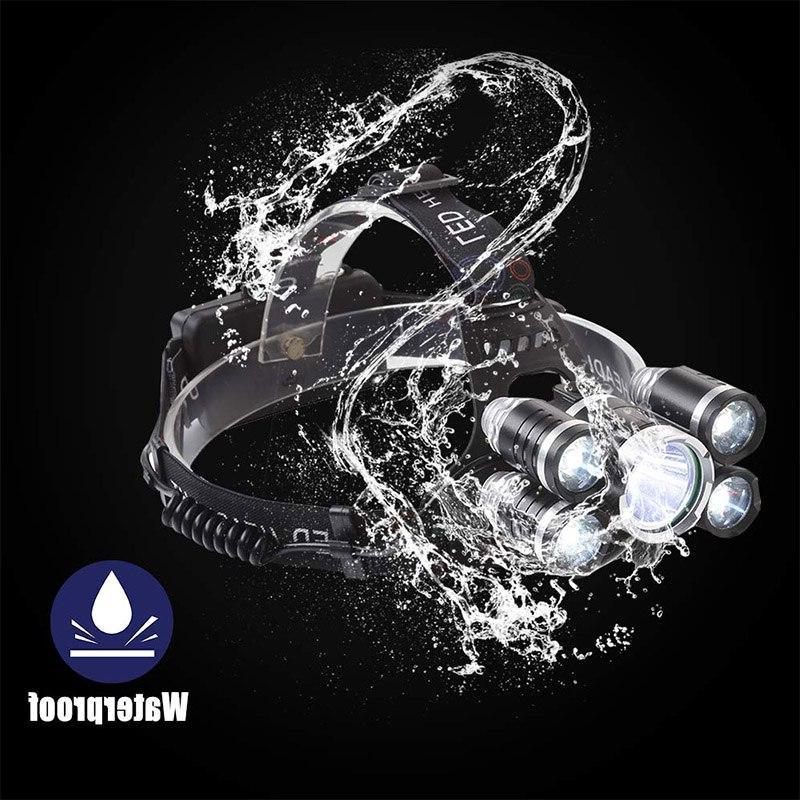 Lumen <font><b>LED</b></font> Ultra Headlight <font><b>Rechargeable</b></font> Waterproof Fishing
