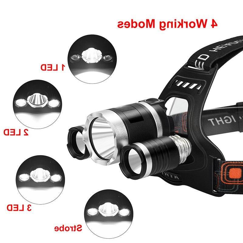T30 High Lumen 3/5 <font><b>LED</b></font> Ultra USB <font><b>Rechargeable</b></font> 4 Modes Waterproof