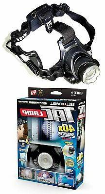 taclight headlamp hands free flashlight 40x brighter