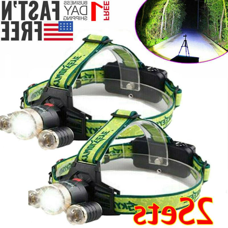 tactical 90000lm 3x t6 led zoomable headlamp