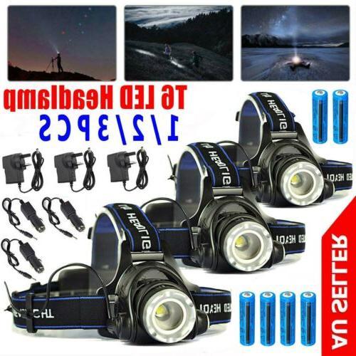 900000LM Rechargeable Headlight LED Headlamp Tactical Flashl
