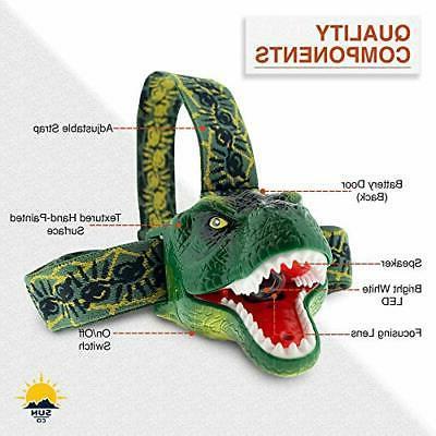 The DinoBryte LED Headlamp - T-Rex Headlamp
