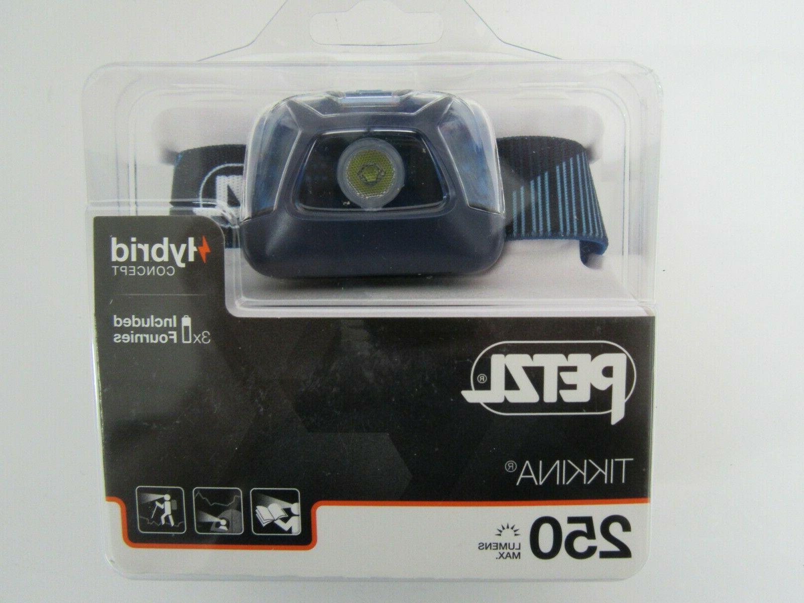 tikkina 250 lumens headlamp blue e091da02 factory