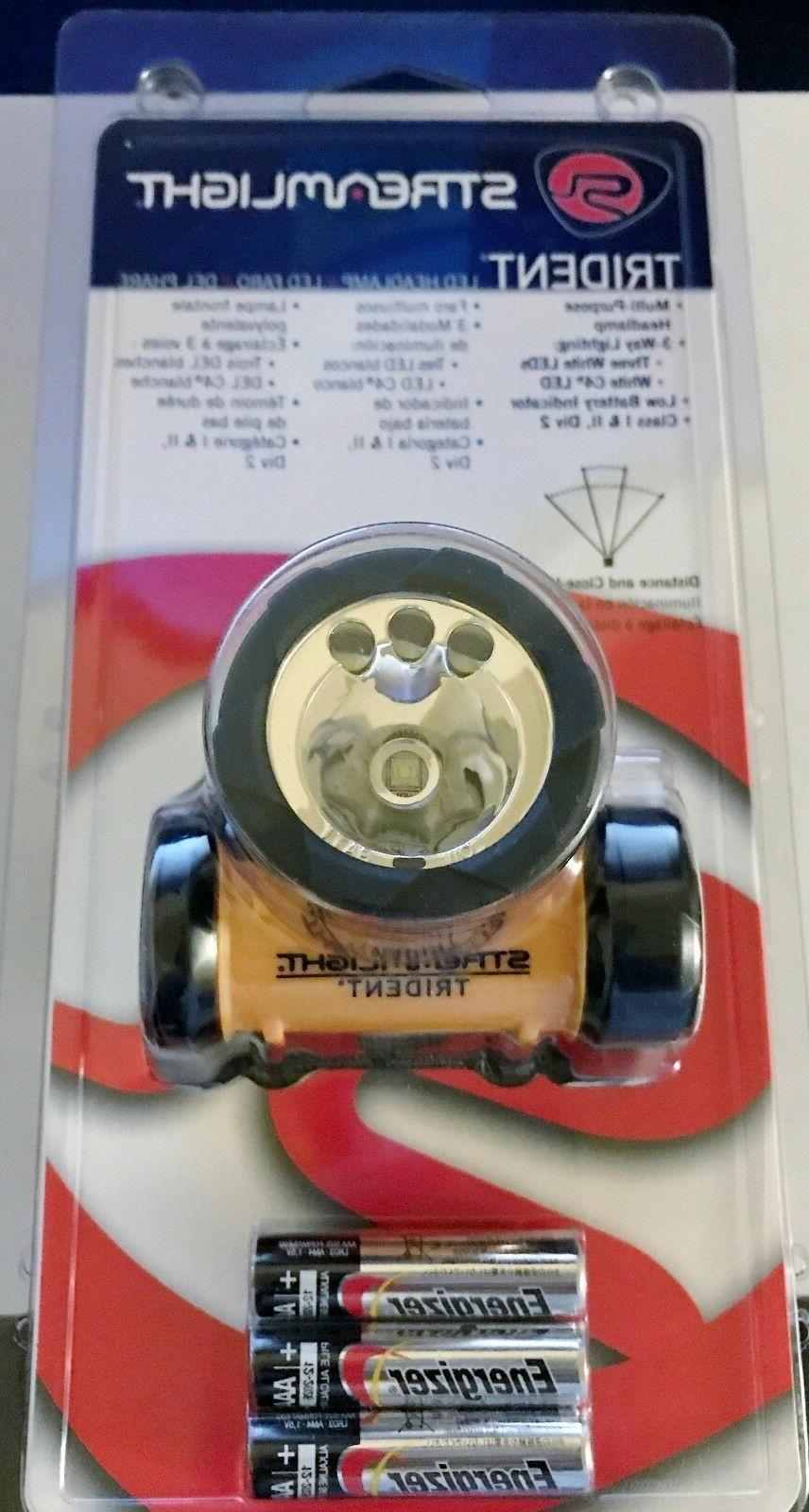 trident 61050 led headlamp 80 lumens 3x
