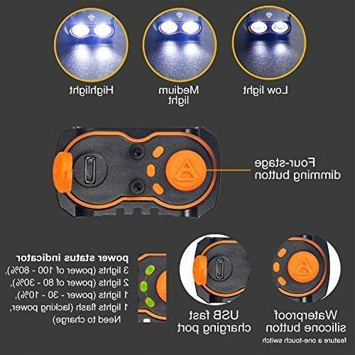Victagen USB Bike Light,Super 2400 Lumens and Free Bike Light Waterproof Bicycle Headlight and Taillight, Easy to for Mountain Road Bikes