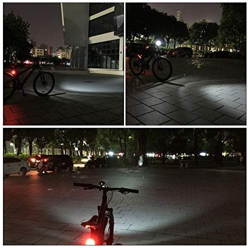 Victagen USB and Free Tail Light Helmet Light, Waterproof Bicycle Easy to Fits for Mountain Road Bikes
