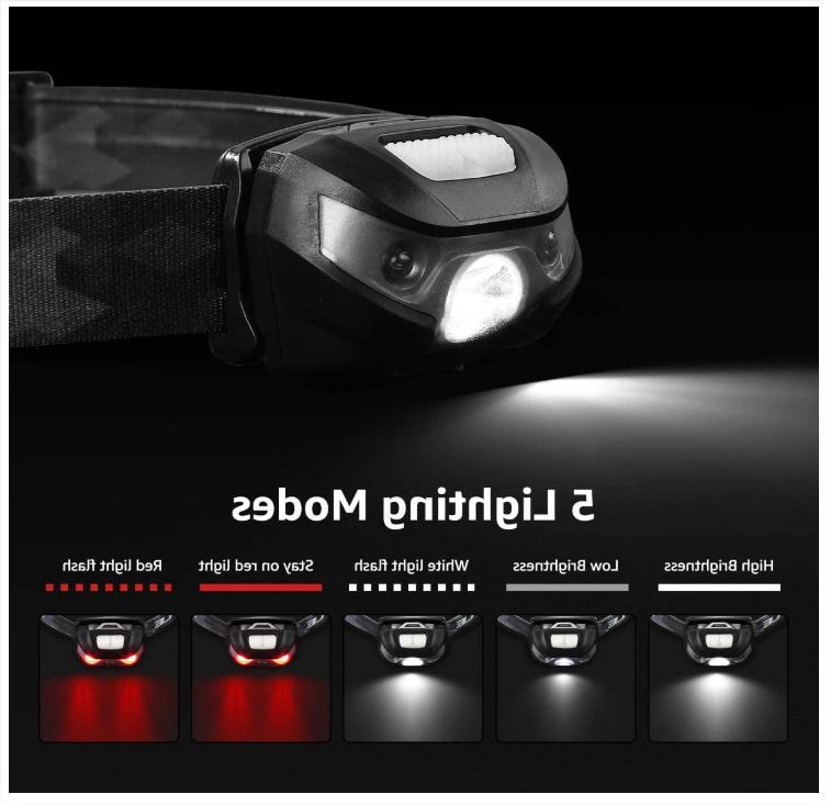 USB Rechargeable Headlamp Hands Free Outdoor Lamp Light