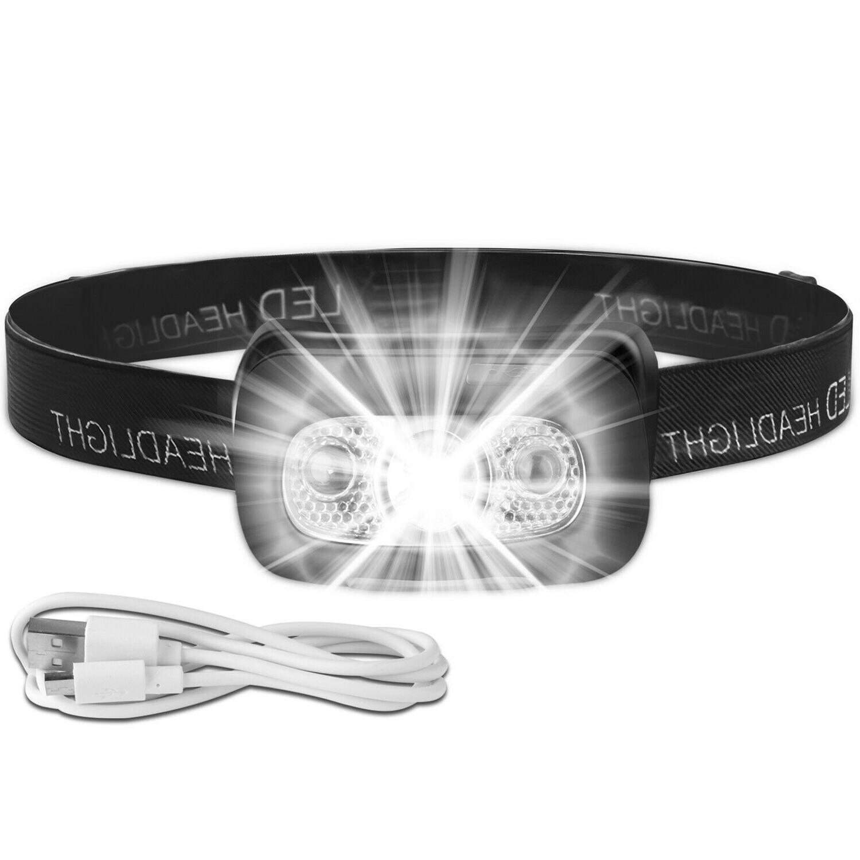 USB Rechargeable Headlight Lamp Flashlight Waterproof