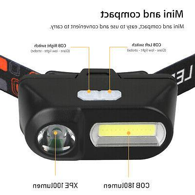 USB Rechargeable LED Headlight Head Lamp Flashlight Waterproof