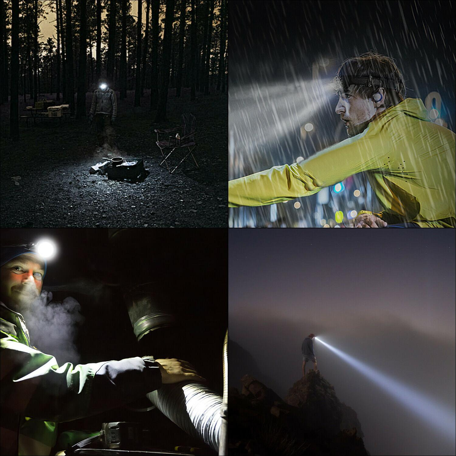 USB Rechargeable Headlight Head Torch Camping