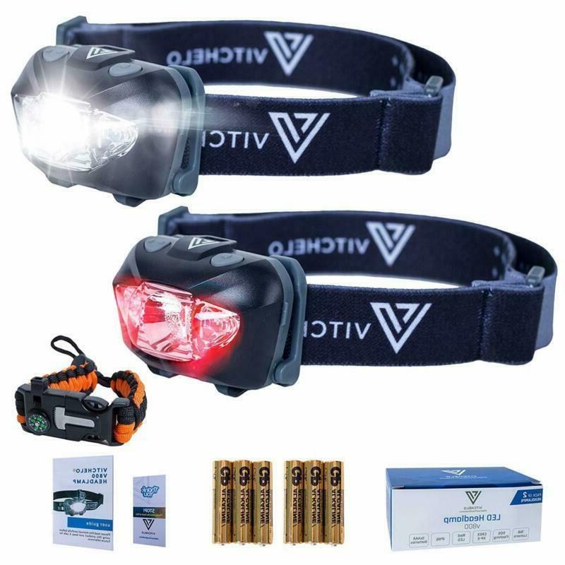 vitchelo v800 headlamp flashlight with white