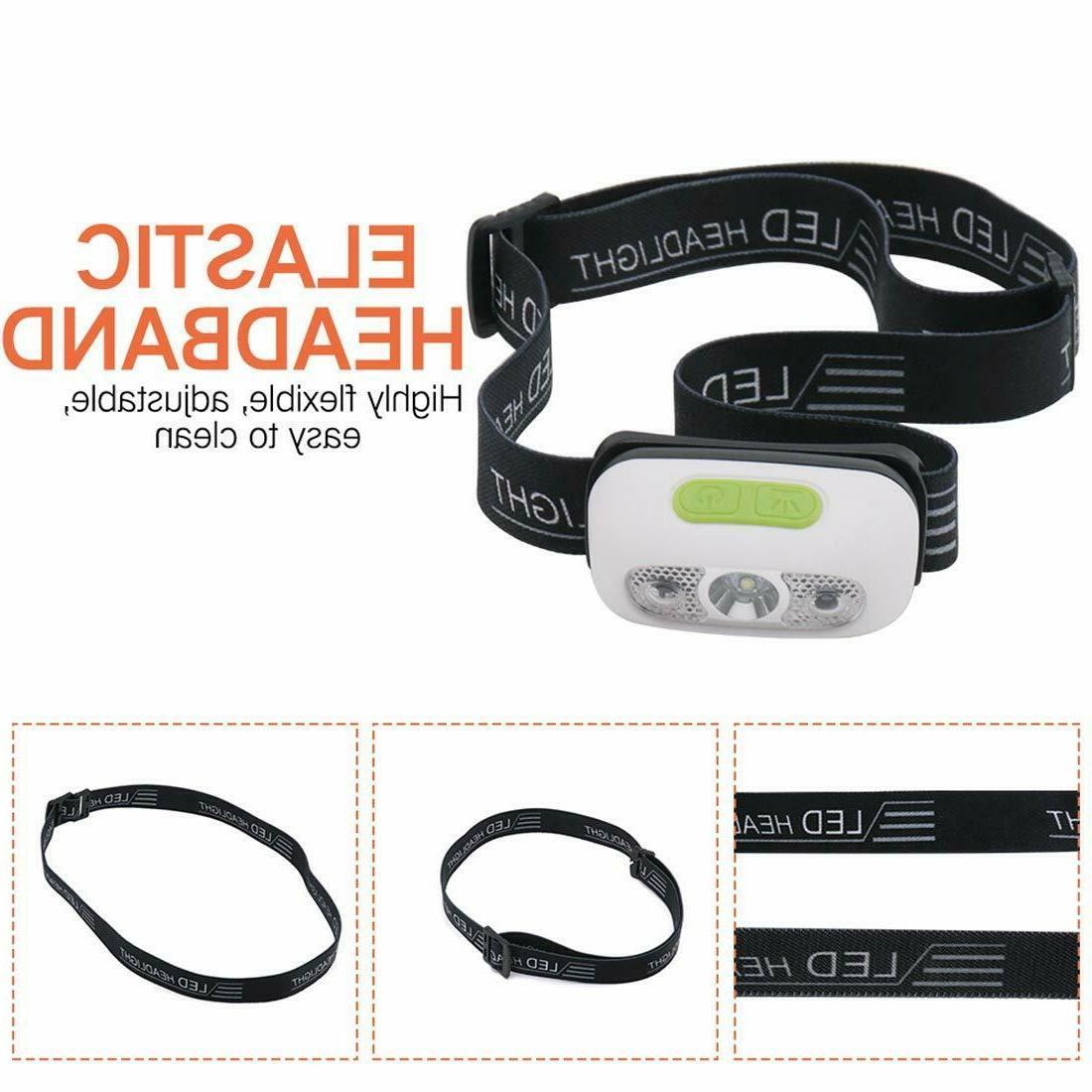 Waterproof USB Rechargeable Headlight Headlamp Torch