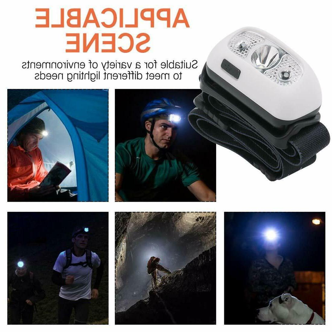 Waterproof USB Headlight Headlamp Torch Flashlight