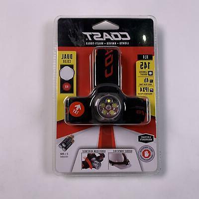 White Red LED Headlamp 144 Lumen Tiltable Hunting Fishing Ca