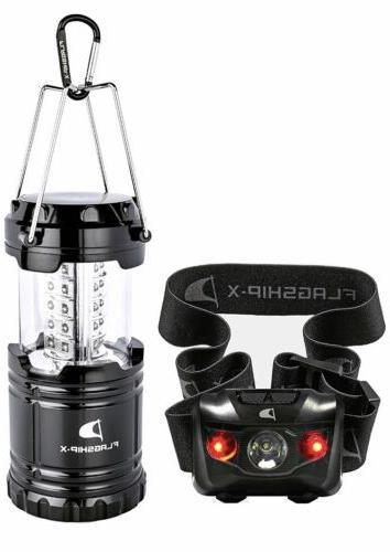x lantern and headlamp camping lights