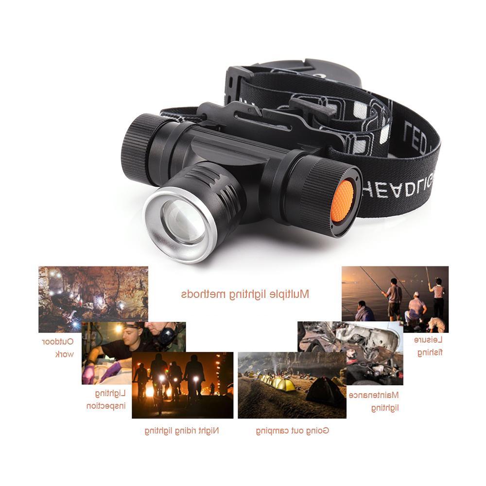 xm l2 lamp light head flashlight zoomble <font><b>waterproof</b></font> usb headlight