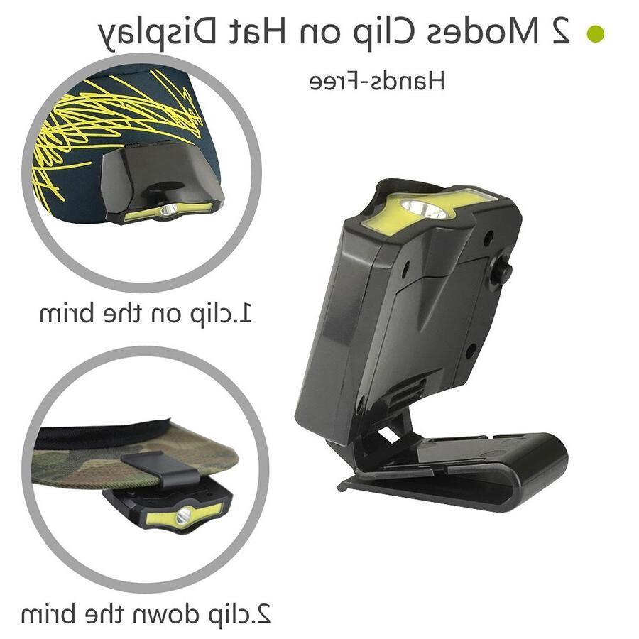 XPE+COB LED Cap <font><b>Clip</b></font> Lamp Hiking Reading Walking the Dog