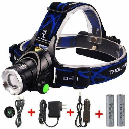 GRDE Zoomable 3 Modes Super Bright LED Headlamp & Rechargeab