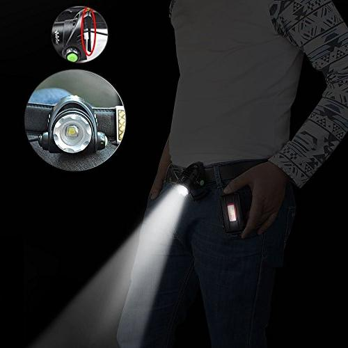 GRDE Zoomable Super Bright with Rechargeable Car Charger, USB Cable