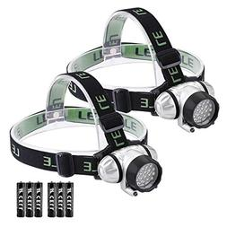 LE LED Headlamp, 4 Lighting Modes, Lightweight Headlight, He