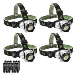 LE Headlamp LED, 4 Modes Headlight Battery Powered Helmet Li