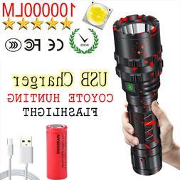 LED 100000Lumen Tactics Flashlight High Power Led Headlamp C