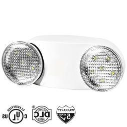 LED Emergency Exit Light Adjustable Dual Head Lamp with Batt