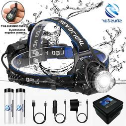 LED <font><b>Headlamp</b></font> Fishing Headlight T6/L2/V6