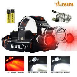 LED <font><b>Headlamp</b></font> Red Light Outdoor Headlight