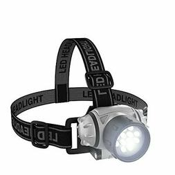 LED Headlamp, Adjustable Headband for Kids and Adults, Batte