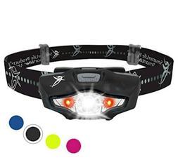 SmarterLife Products LED Headlamp Flashlight - 6 White and R