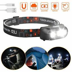 LED Headlamp Flashlight Head Torch Light 4 Mode Adjustable H