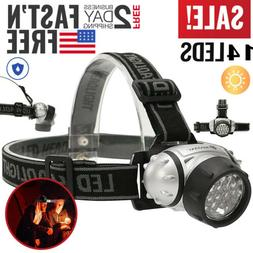 LED Headlamp Flashlight Head Torch Light 4 Modes Adjustable