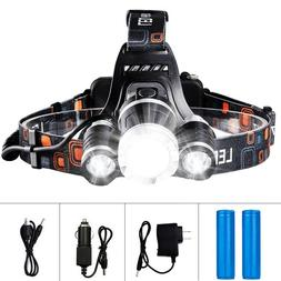 LED Headlamp Flashlight Rechargeable Light Hard Hat Headligh