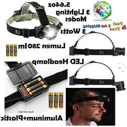 LED Headlamp Flashlight Zoomable Head Band Light Waterproof