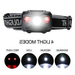 Head Lamp Waterproof White Led Red Flashlight Headlight Head