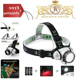 LED Headlamp With 4 Light Modes 90° Tiltable Waterproof For