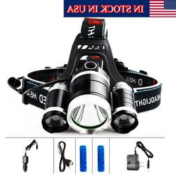 LED Headlight Headlamp Fishing Camping Head Light Lamp With