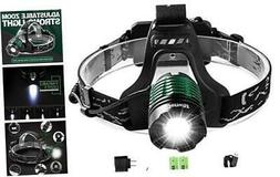 Led Rechargeable Headlamp, Genwiss Brightest Head Lamp, 1800