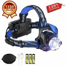 led rechargeable headlamp usb headlight streamlight bandit