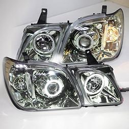 Generic for LEXUS LX470 LED angel eyes Head Lamps 1998-2007