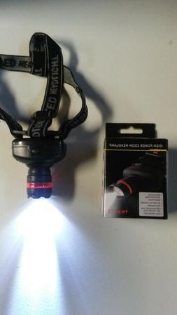 Lot of 2 Headlamp LED Zoom 3 Mode Outdoor Fishing,Camping,Hu