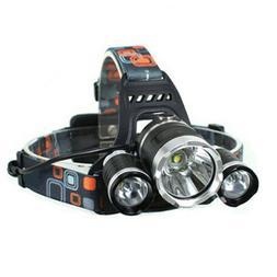 LW-5000 3LED Light Headlamp Headlight Head Torch Fishing Wor
