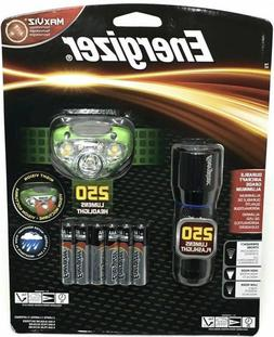 Energizer MaxViz 250 Lumens Flashlight, Headlight headlamp +