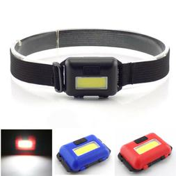 Mini COB LED Headlamp Headlight AAA Flashlight Head Torch li
