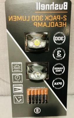 NEW Bushnell 2-Pack 300 Lumen Headlamp Camping Hiking Workin