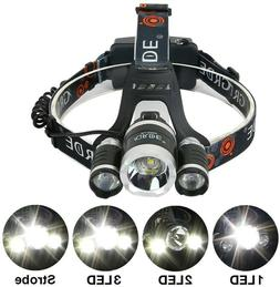 NEW GRDE 3-LED Rechargeable Headlamp, Gray & Orange