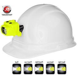 Nightstick Intrinsically Safe Dual-Light Headlamp w/Hard Hat